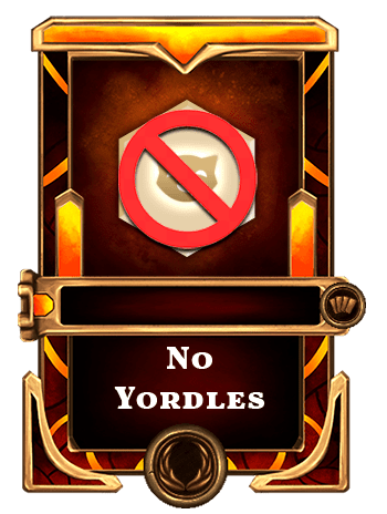 No yordles card
