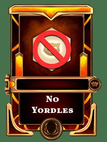 No yordles card